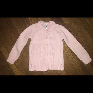 Girl's Light Pink Cherokee Cable Knit Sweater